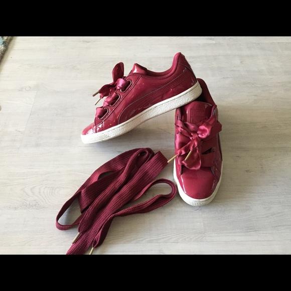 super popular 452f2 227e2 Puma basket heart red sneakers